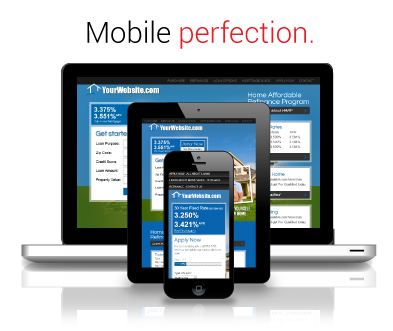 mobile optimization for your mortgage web page